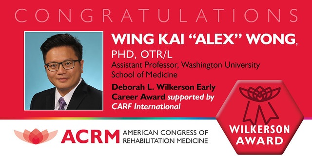Alex Wong received the ACRM 2019 Deborah L. Wilkerson Early Career Award