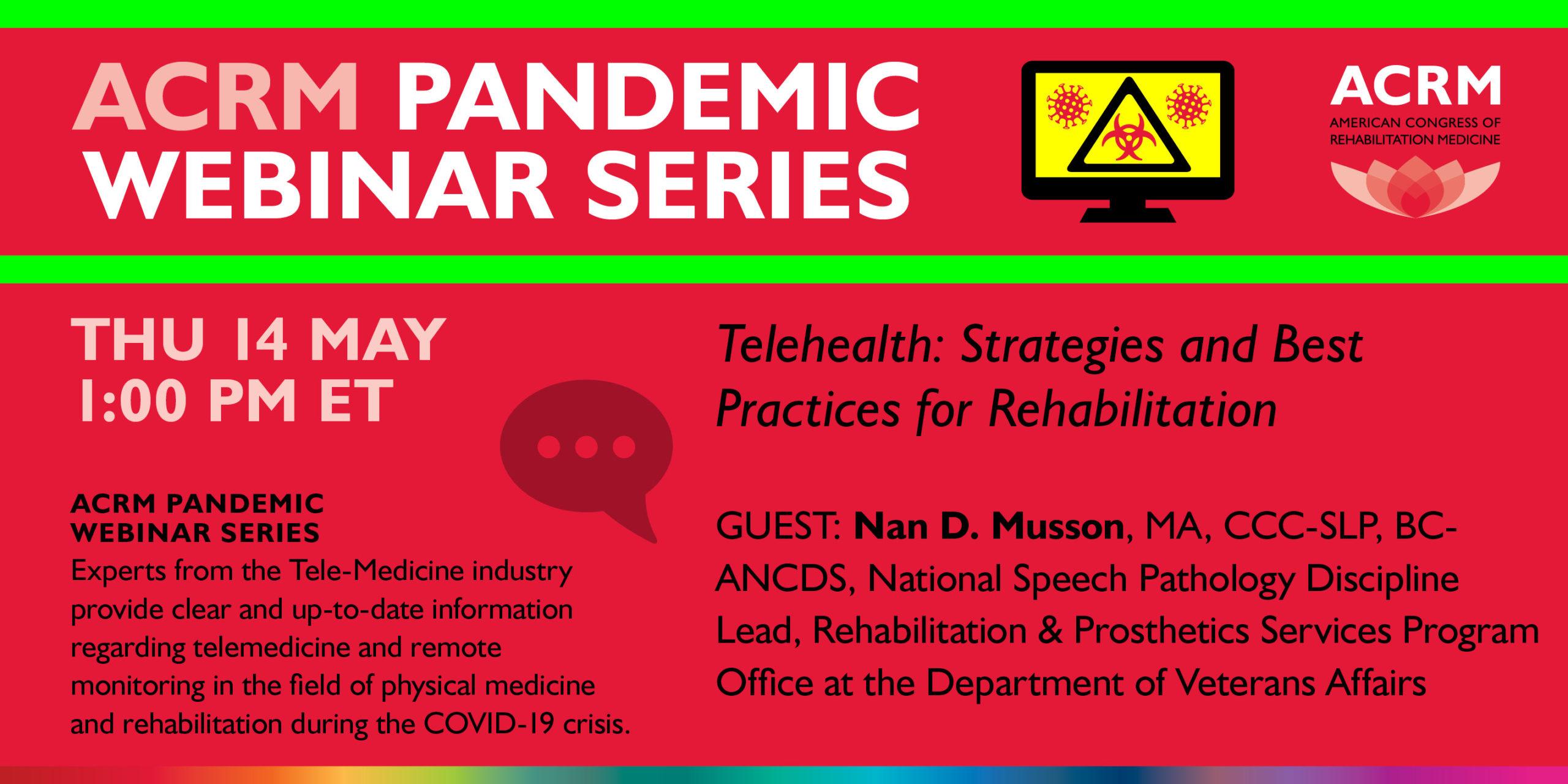 ACRM Pandemic Webinar image