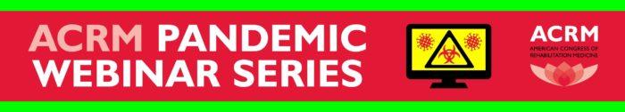 ACRM Pandemic Webinar Series banner
