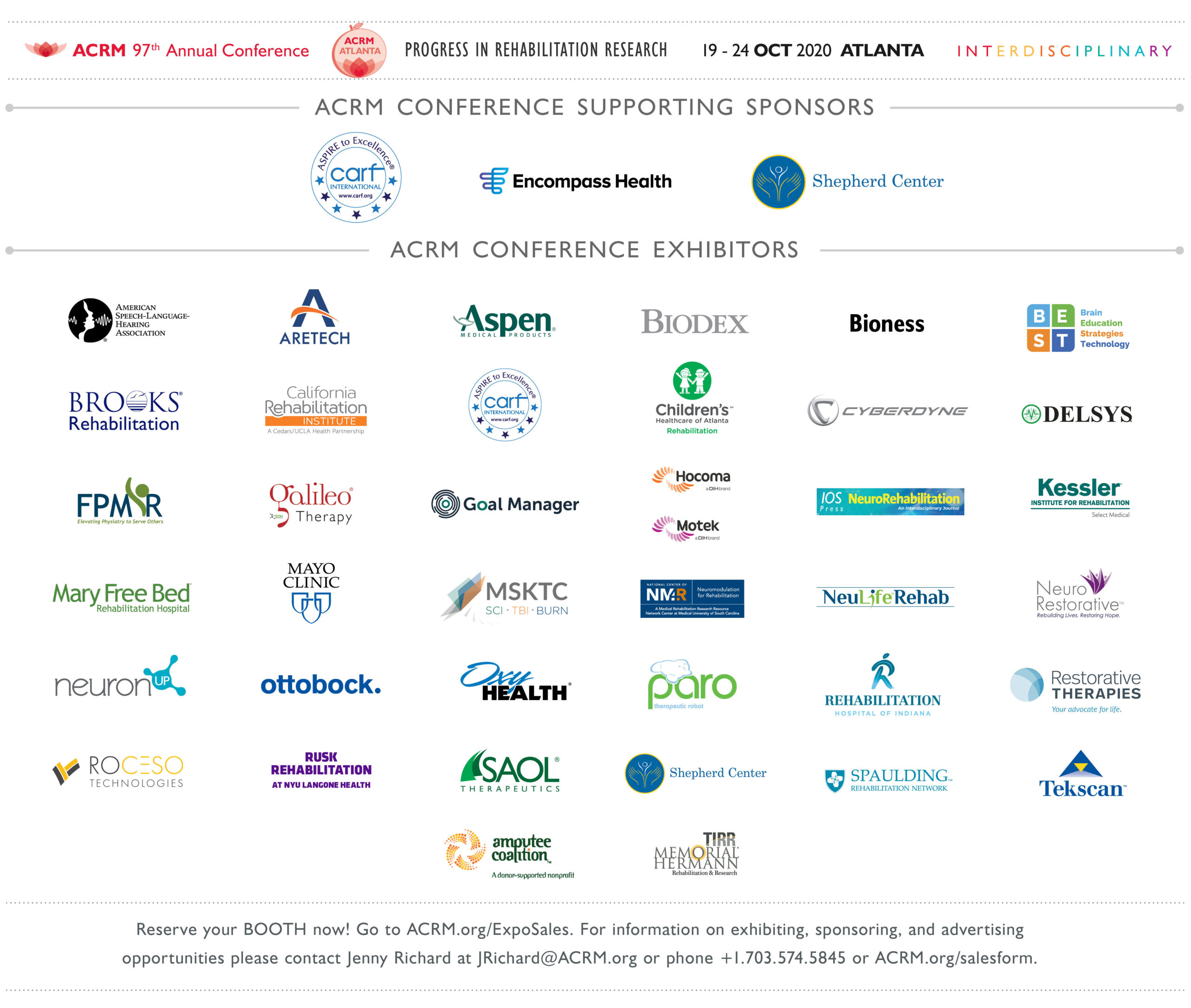 ACRM 2020 Sponsors and Exhibitors