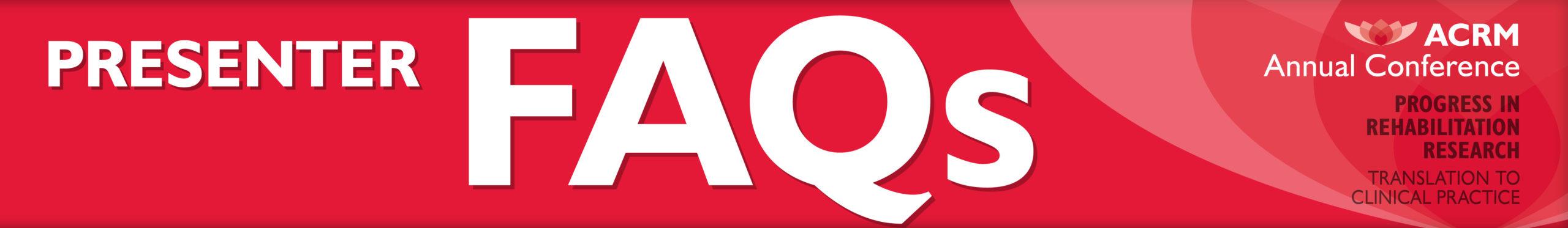 ACRM Annual Conference Presenter FAQ banner