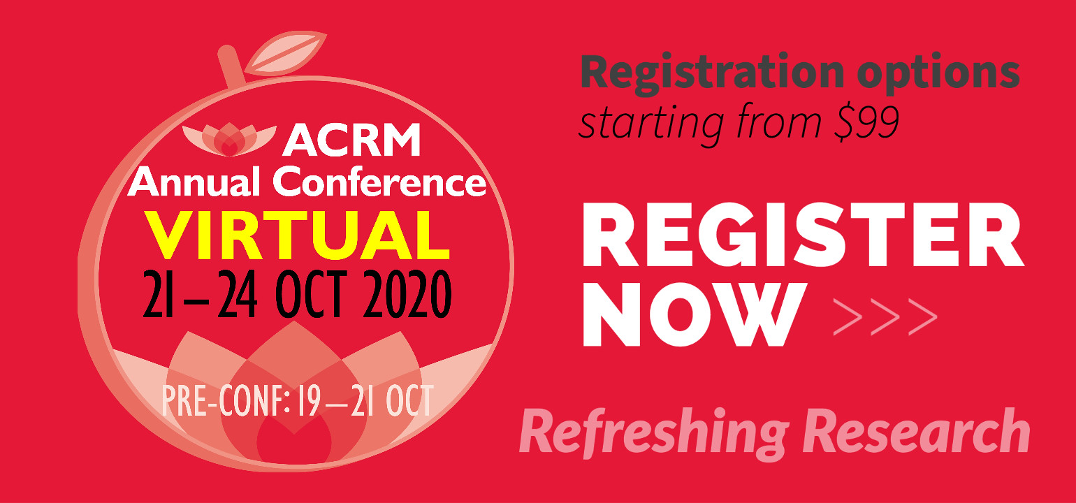 Register Now for the ACRM VIRTUAL Annual Conference