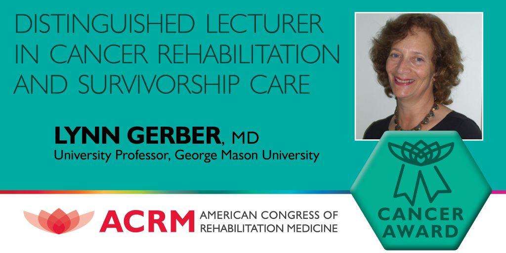 Distinguished Guest Lecturer in Cancer Rehabilitation & Survivorship Care Award graphic
