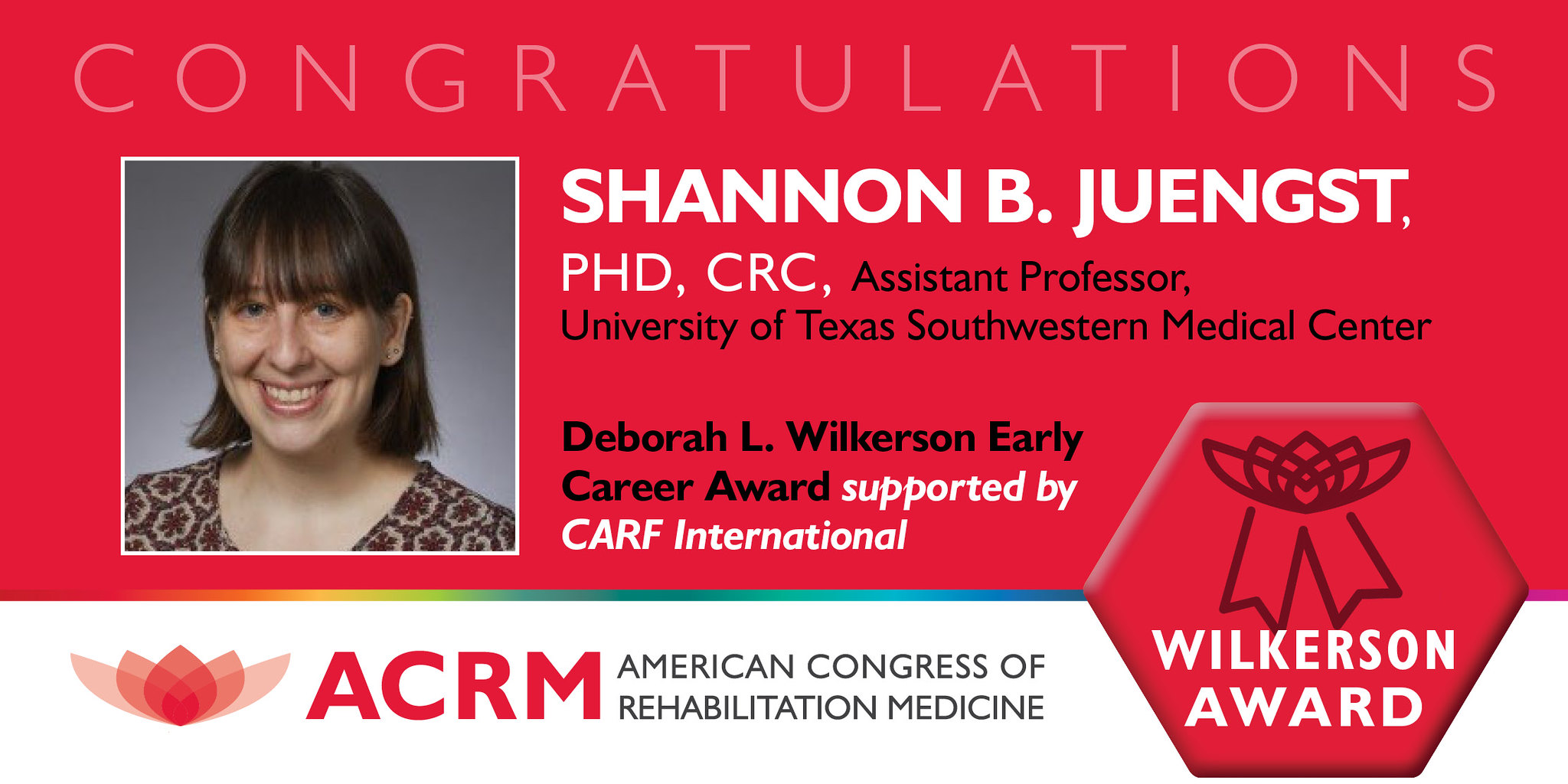 Deborah L. Wilkerson Award 2020 Recipient Shannon Juengst