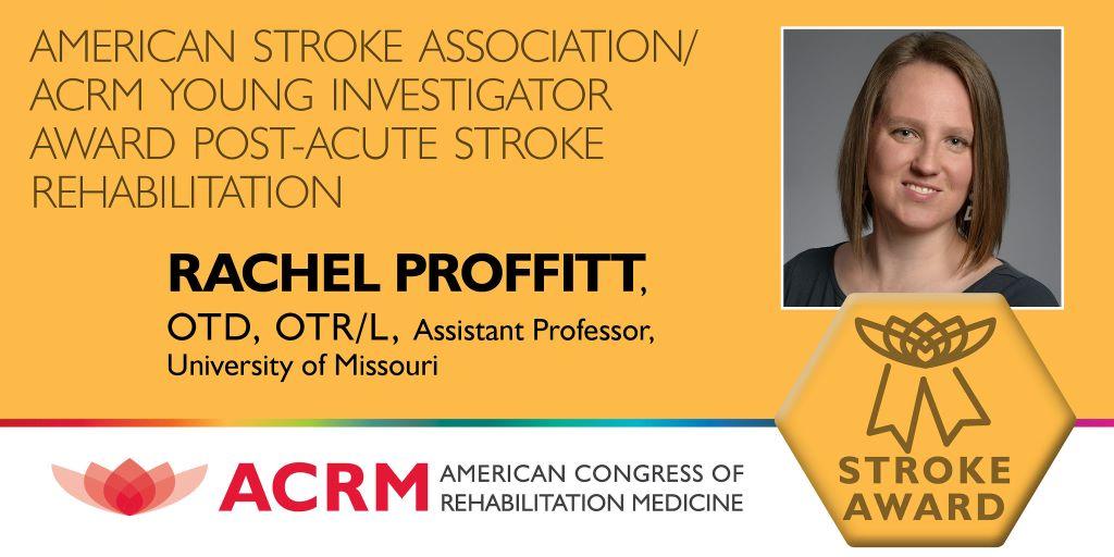 ACRM-ASA Young Investigator Stroke Award banner