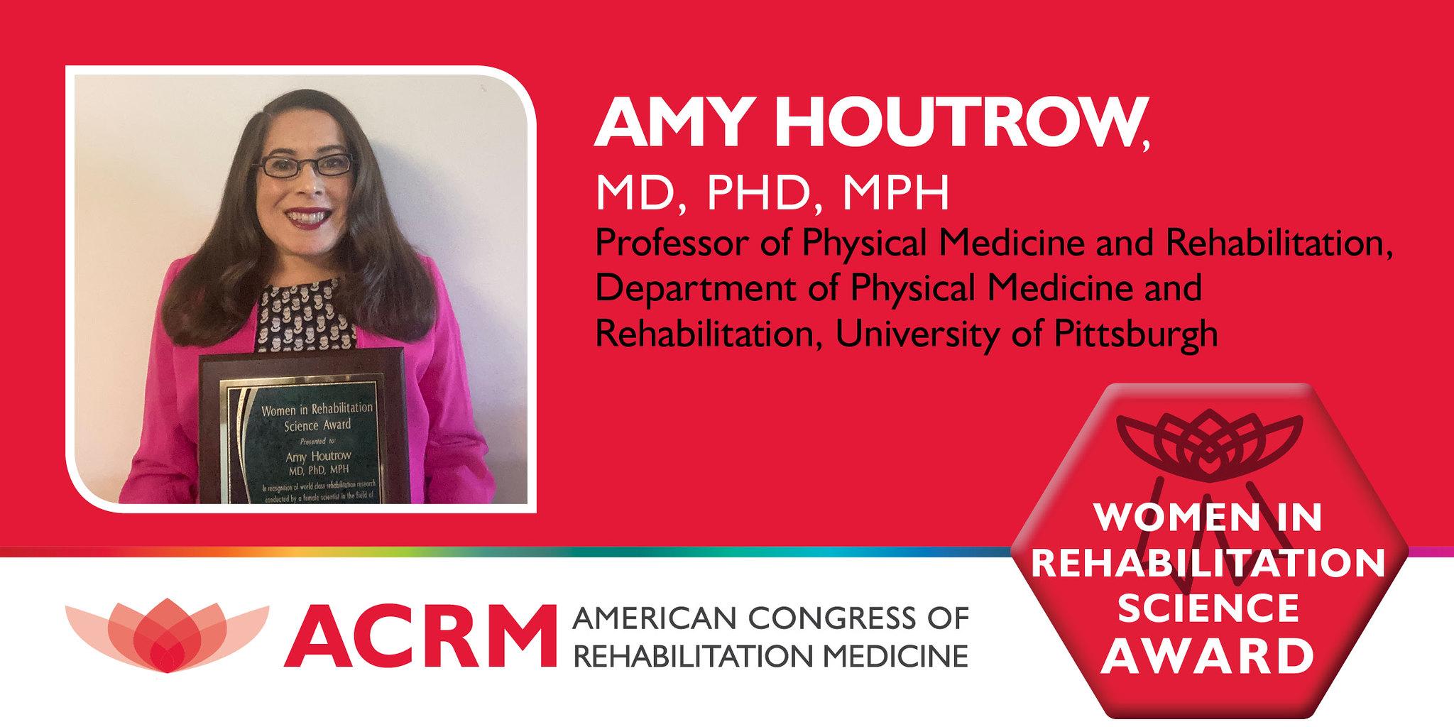 ACRM 2020 Women in Rehabilitation Science Award presentation image