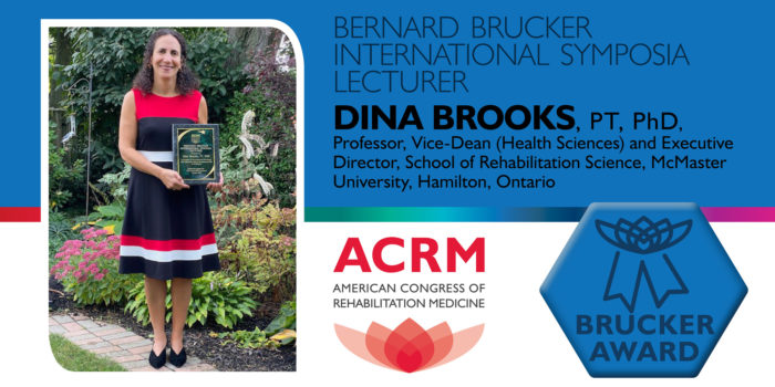 Dina Brooks is the 2020 ACRM Brucker International Symposium Lecturer