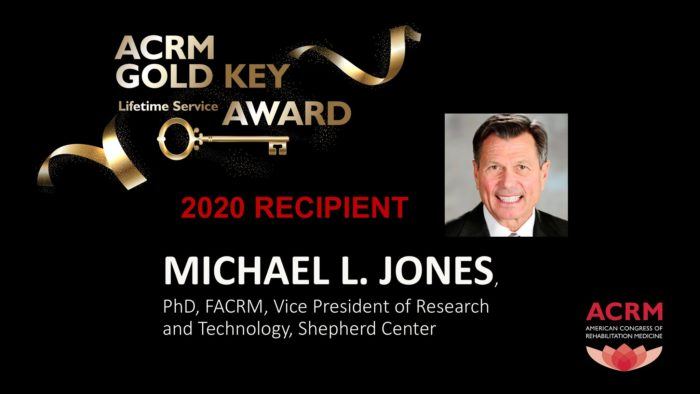 Michael Jones is the 2020 recipient of the ACRM Gold Key Award.