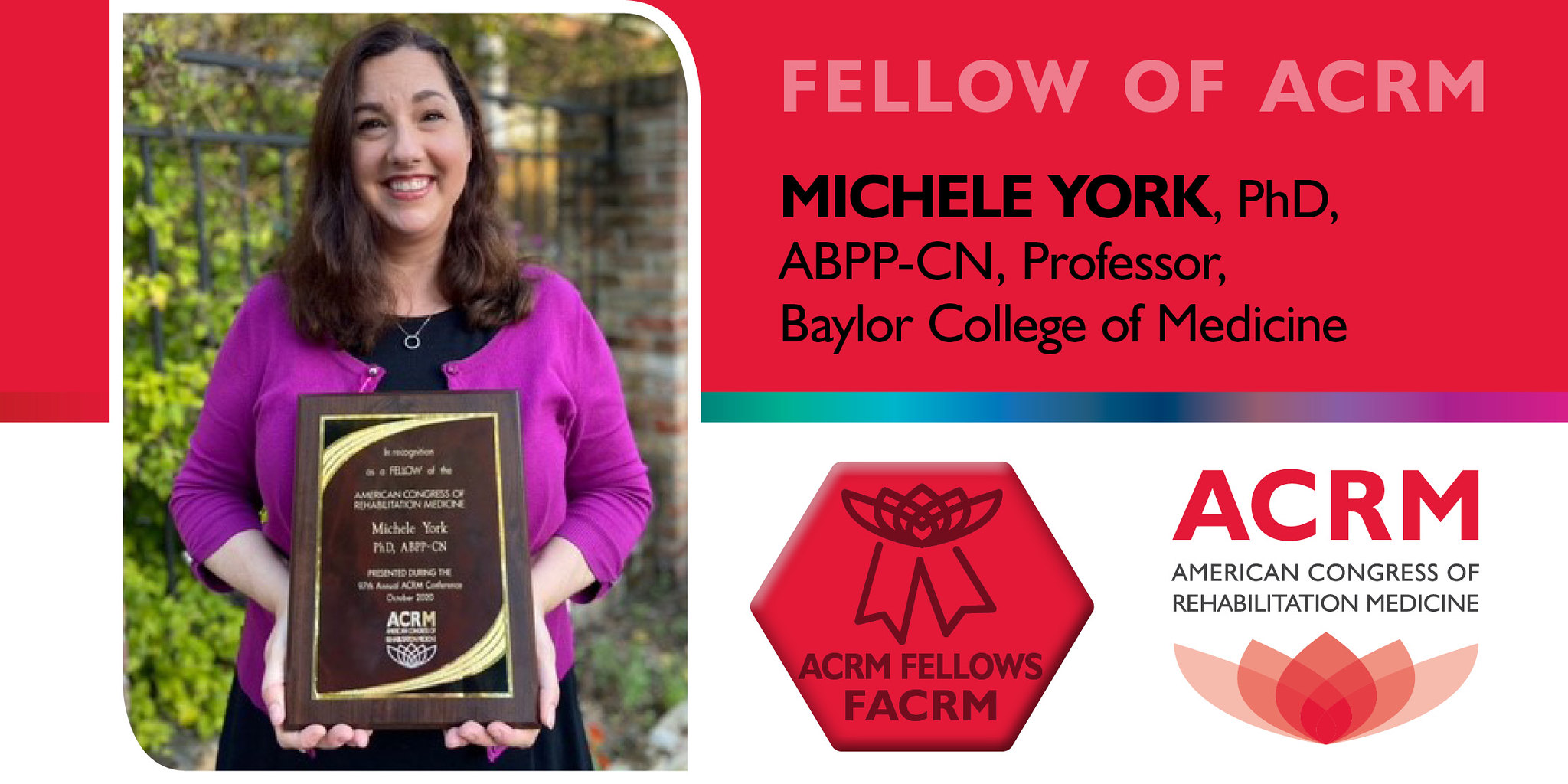 Michele York is a 2020 Fellow of ACRM