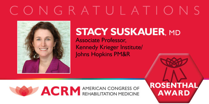Stacy Suskauer is the 2020 recipient of the ACCRM Mitchell Rosenthal Award