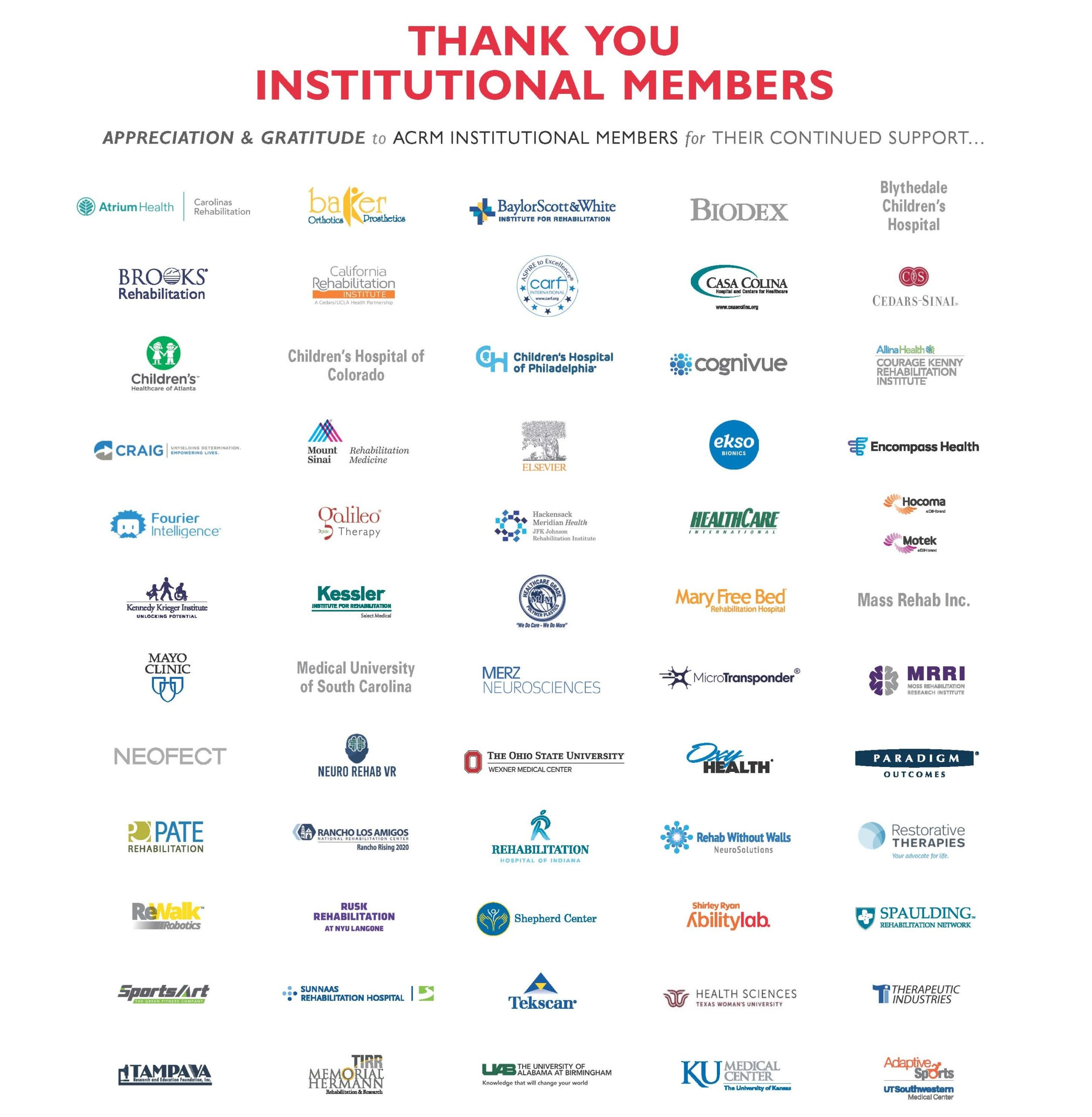 2020 ACRM Institutional Members image