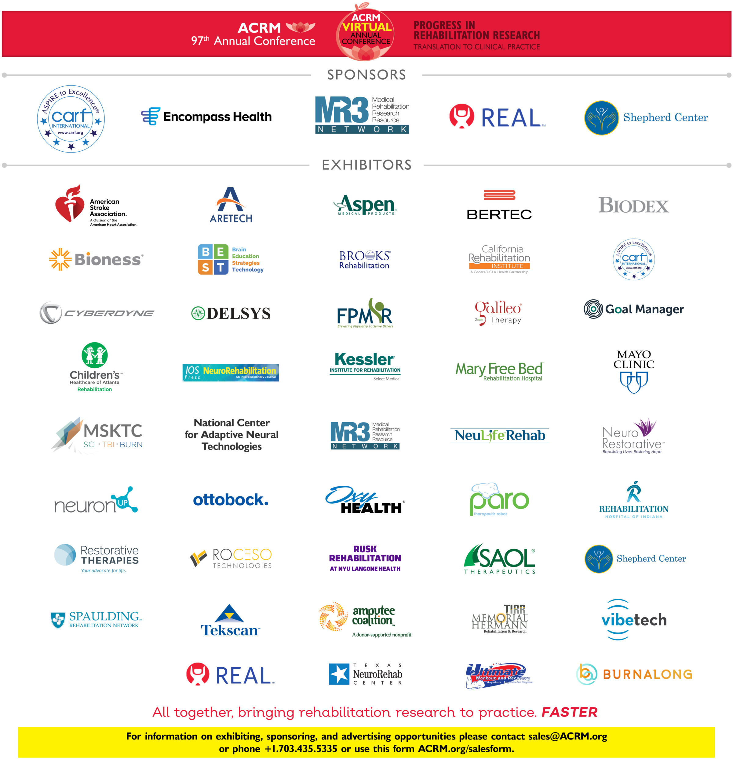 Thank you to ACRM 2020 Exhibitors and Sponsors image