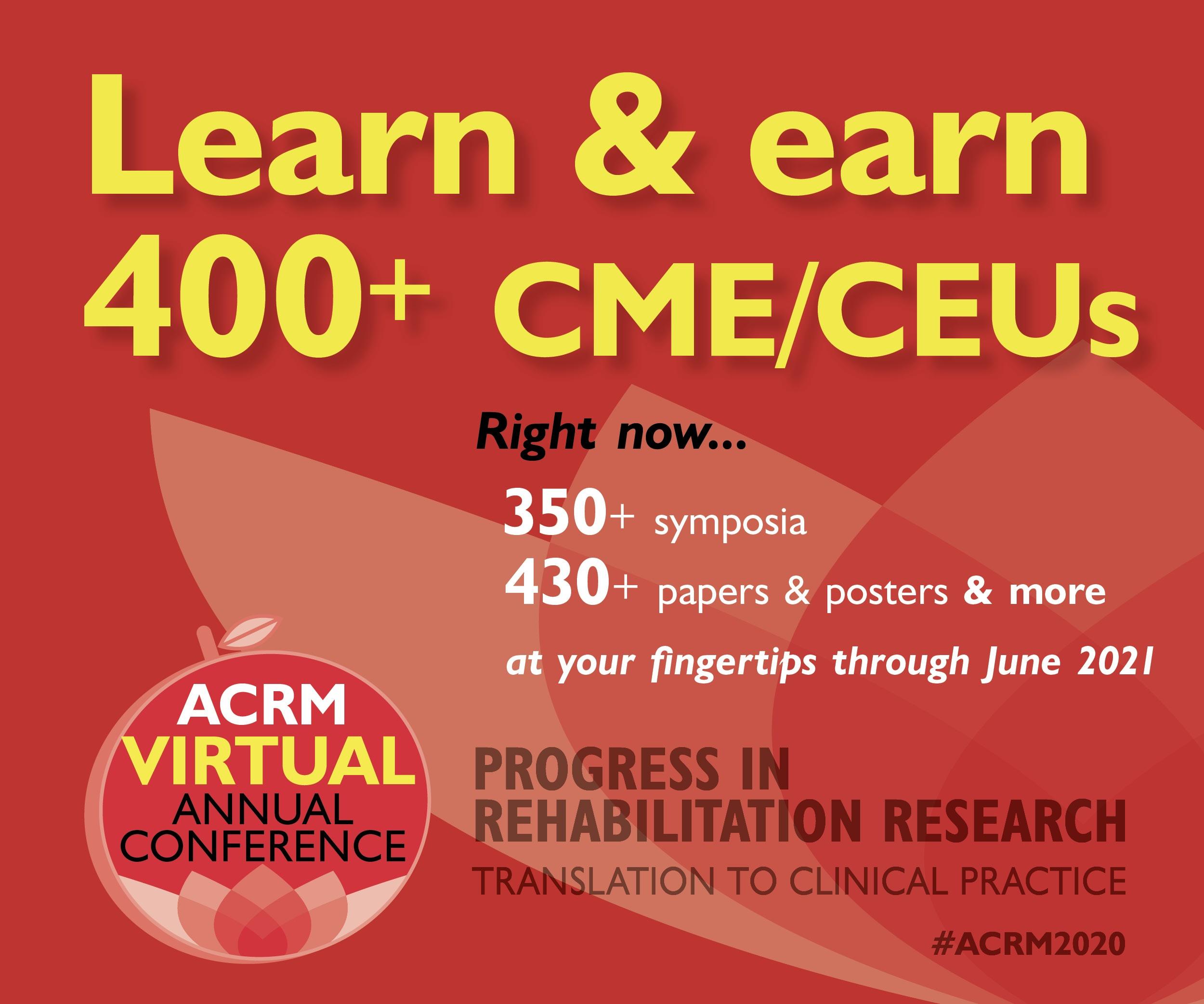 Learn & earn 400+ CME/CEUs