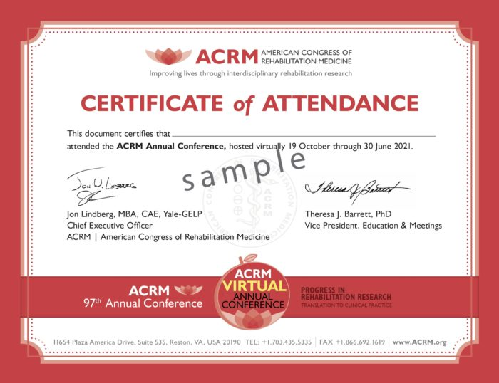 ACRM 2020 Annual Virtual Conference General Certificate