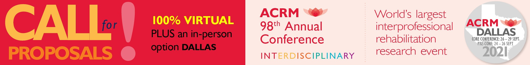 ACRM 2021 Call for Proposals banner