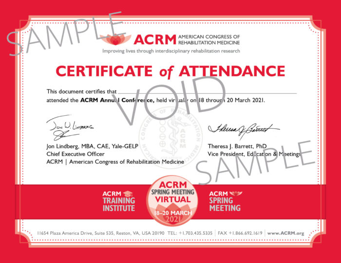Spring Meeting 2021 Sample Certificate