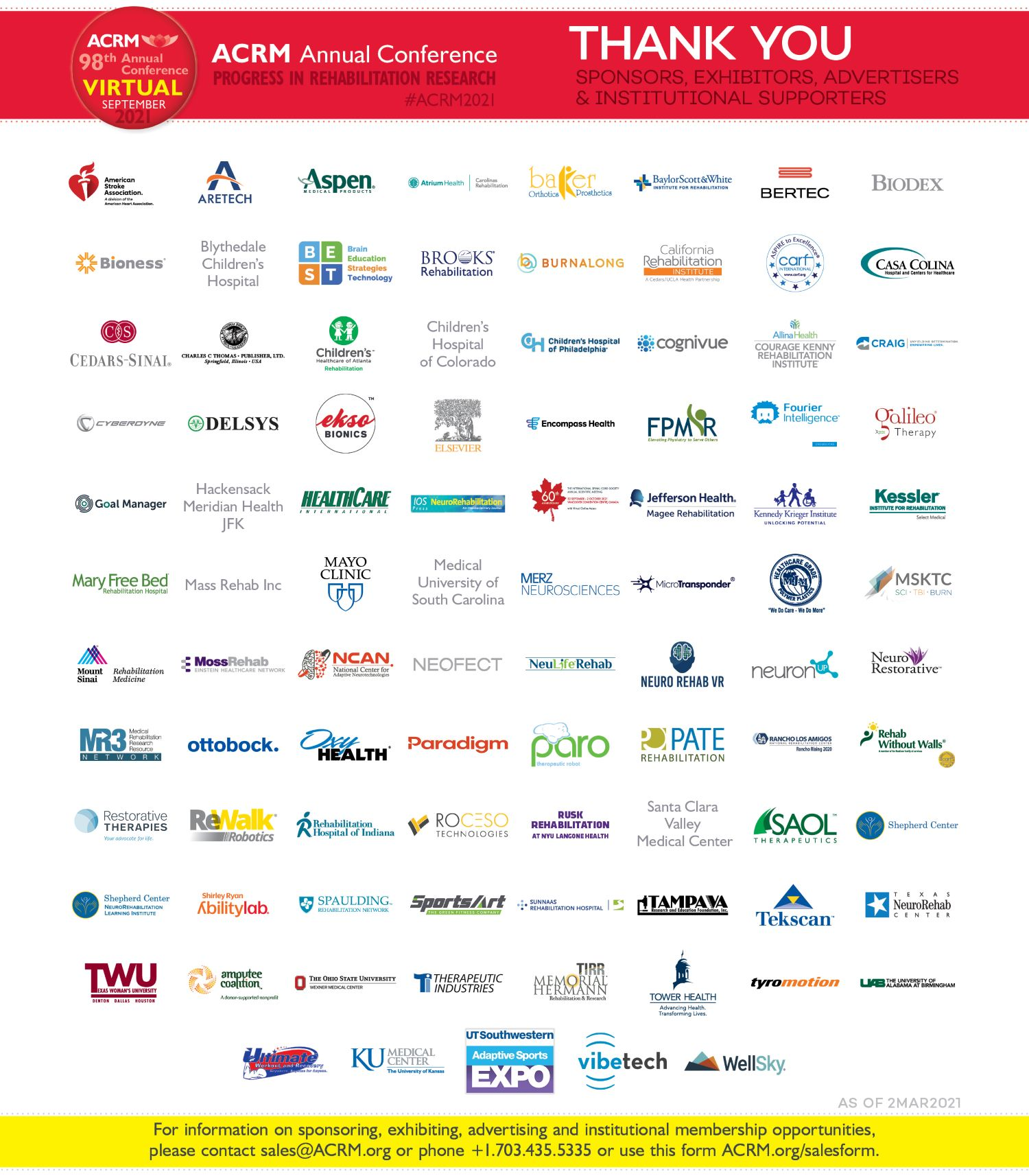 Thank you 2021 ACRM Supporters footer image