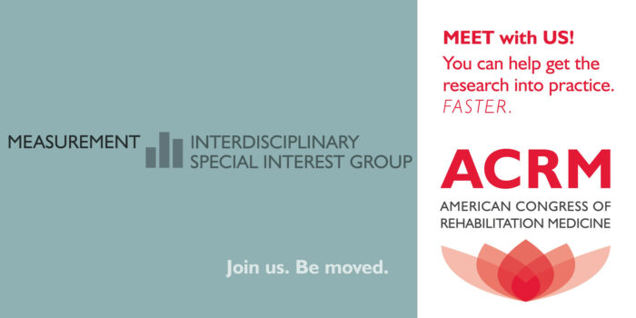 Meet with the ACRM Measurement Interdisciplinary Special Interest Group banner