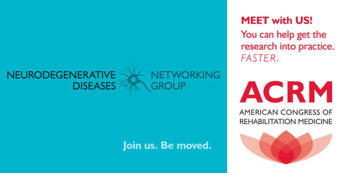 Meet with the ACRM Neurodegenerative Diseases Networking Group banner