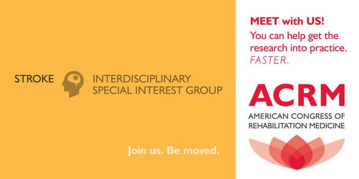 Meet with the ACRM Stroke ISIG banner