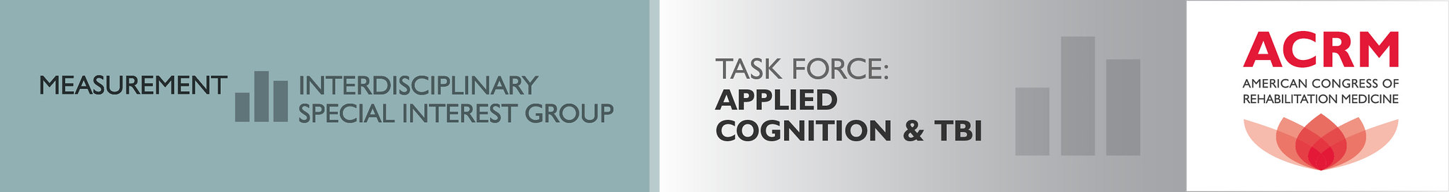 ACRM Measurement ISIG Applied Cognition & TBI Task Force banner
