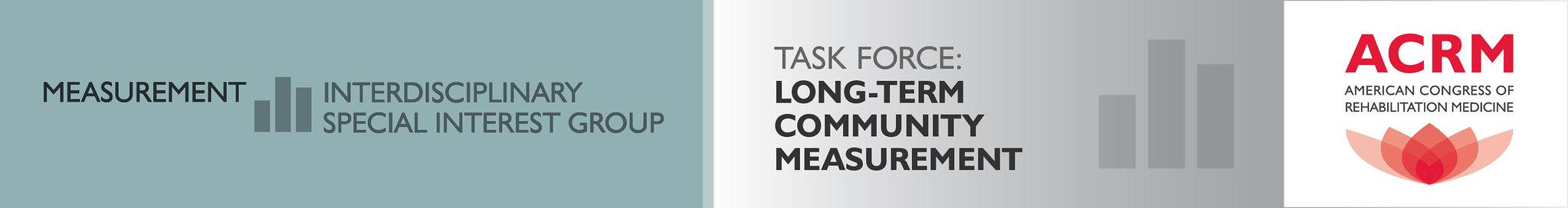 ACRM Measurement ISIG Long-Term Community Measurement Task Force banner