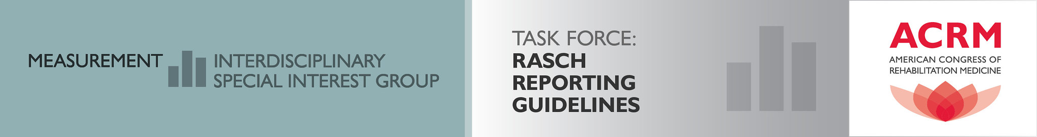 ACRM Measurement ISIG Rasch Reporting Guidelines Task Force banner