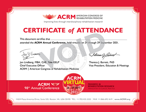 ACRM 2021 Annual Virtual Conference General Certificate