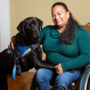 Dr. Anjali Forber-Pratt and service dog, Kolton