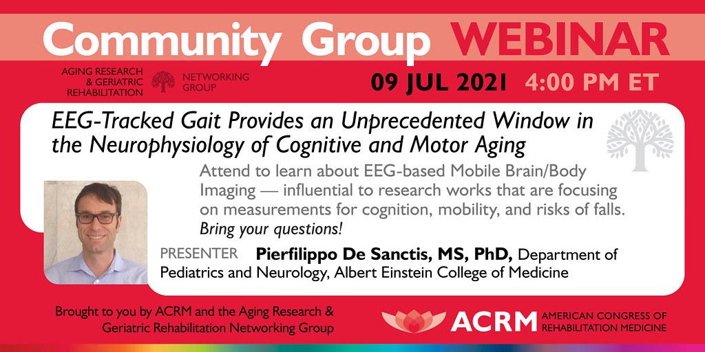 ACRM Aging Research Webinar with Dr. De Sanctis - image