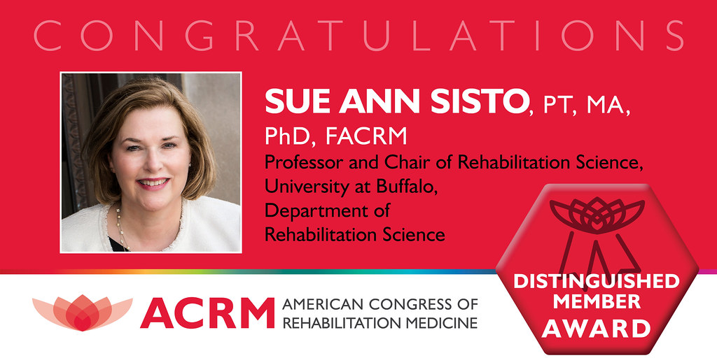 Sue Ann Sisto received the ACRM 2021 Distinguished Member Award for her extraordinary service to ACRM.