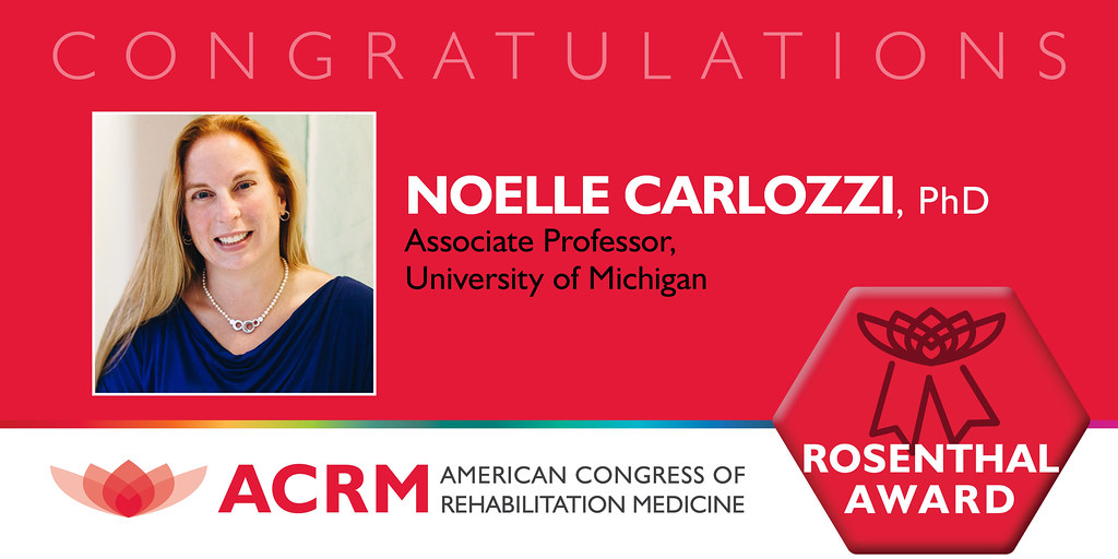 Noelle Carlozzi, PhD received the ACRM 2021 Mitchell Rosenthal Mid-Career Award - image