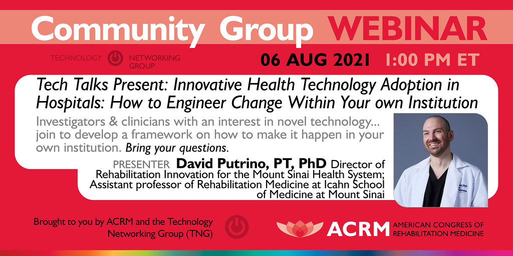 ACRM Tech Talk webinar with guest speaker David Putrino - image