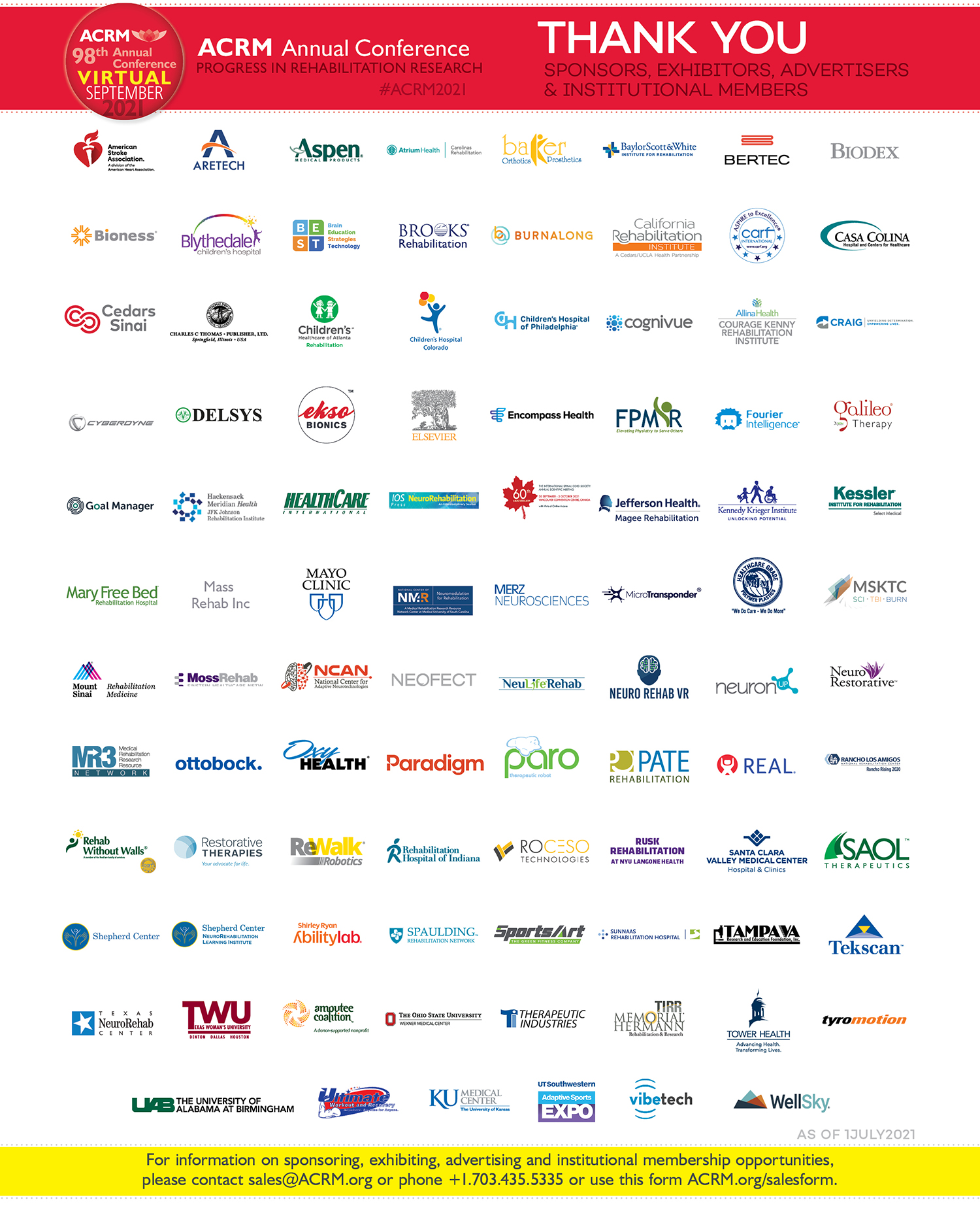 Footer image: Thank you to ACRM 2021 Supporters