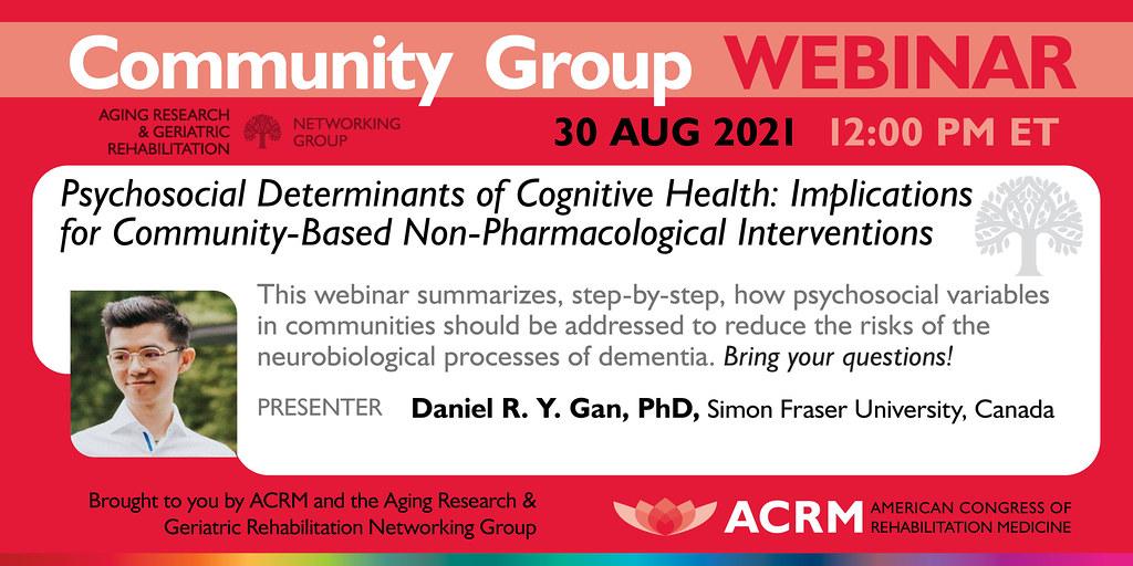 ACRM Aging Research Webinar with Dr. Daniel Gan - IMAGE