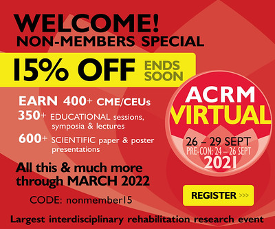 Save 15% OFF Nonmember Registration to the ACRM 2021 VIRTUAL Annual Conference - IMAGE