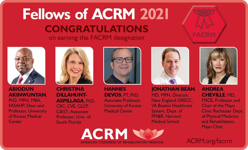 2021 Fellows of ACRM - image