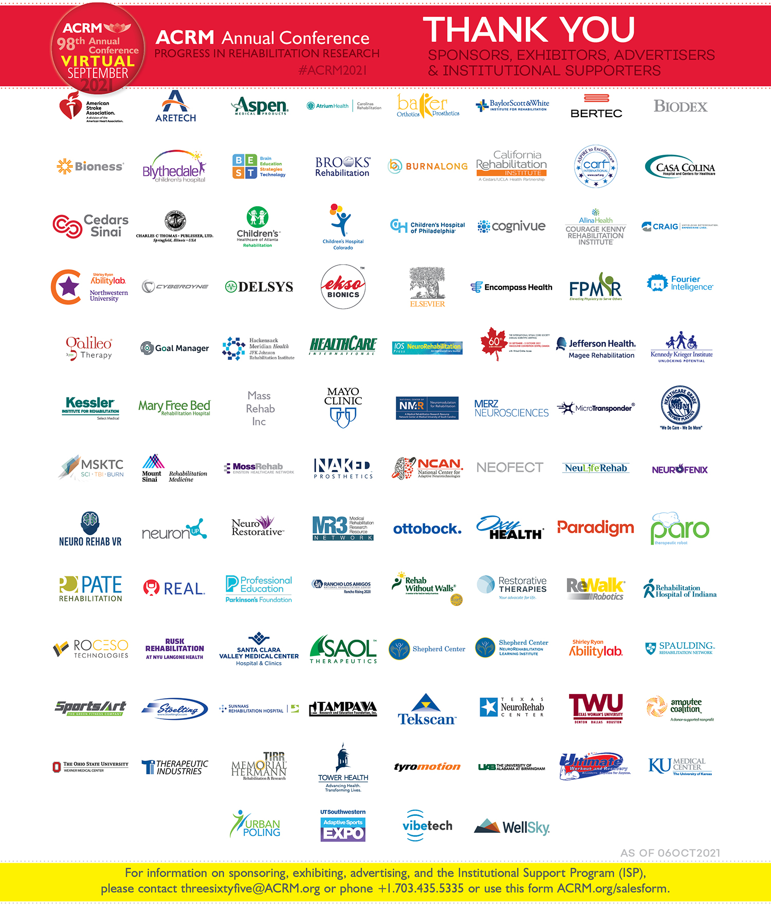 Thank you to ACRM 2021 Supporters image